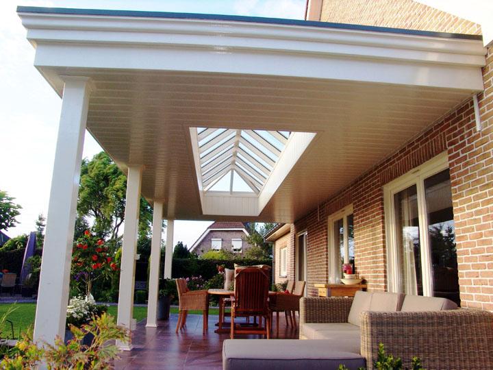 Luxe overkapping veranda h van den bergh essen - Een terras aan het plannen ...
